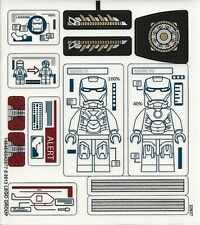 LEGO 76007 - Super Heroes - Iron Man: Malibu Mansion Attack - STICKER SHEET