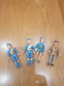 Vintage Matchbox Thunderbirds 4 Action Figures, Brains, Parker, Alan and Virgil