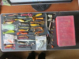 60 Fishing Lures in box. Bundle joblot