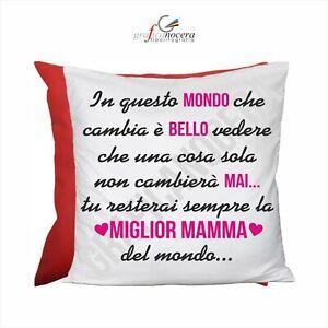 FESTA DELLA MAMMA Cuscino Quadrato premio miglior mamma Rosso idea regalo
