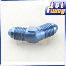 -3 AN AN3 AN-3 Fitting Male Flare 45 Degree Union Aluminum Blue