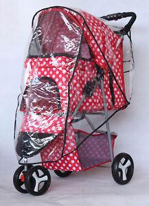Outdoor Travel Folding Cat Dog Cart Carrier Pet Stroller Waterproof Rain Cover
