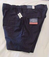 "Men's ""Croft&Barrow"" Size 52, Admiral Nvy, Side Elastic,Cargo Shorts 100% Cotton"