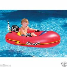 Speed Boat Inflatable Ride-On Kiddie 1 Red 9013 For Kids 2+ Pool Fun Red Kayak