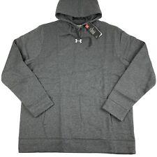 Under Armour UA Hustle Fleece Hoodie Sweatshirt Mens XL X-Large Heather 1300123