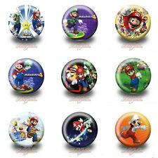 9PCS Super Mario Bros®. 30MM Badges, Brooches Party Favours