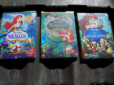 DISNEY'S THE LITTLE MERMAID TRILOGY 1 2 3 Brand New Fast Free  ship Classic