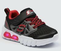 "NEW SKECHERS Sport Light Up Toddler Boys Black & Red Shoes ""Eugenie"" - CHOOSE SZ"