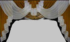 ~*~ Deko-Querbehang ~ Voile ~ braun / weiss ~ 1,80 m breit ~ NEU ~*~