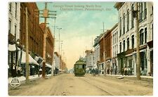 Peterborough Ontario ON-TROLLEY ON GEORGE STREET NORTH-Postcard Canada