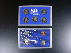 U.S. COINS - 1999 State Quarter Proof Set - 9 Coins - DE, PA, NJ, GA & CT  GS42