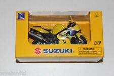 Newray Suzuki GSX-R 600 yellow diecast /plastic motorcycle model bike scale 1:18