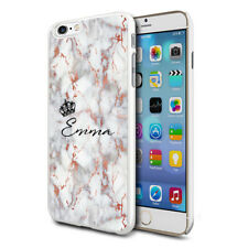 Personalised Marble Phone Case Cover For Apple Samsung Initial Name - Ref C27