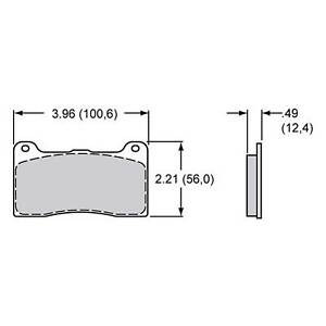 Wilwood Brake Pad Set For Dynapro/Dynalite, BP-20 Compound 7812 150-9418K