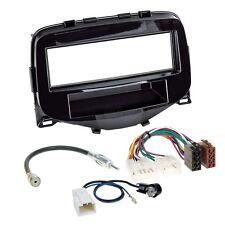 Toyota Aygo ab 14 1-DIN Radio Set Adapter Cable Radio Faceplate Shiny Gloss