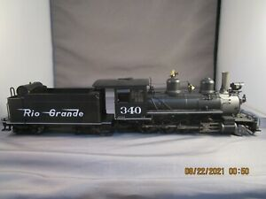 On3 PSC/MMI BRASS/CAST D&RGW C-19 2-8-0 Steam Locomotive with DCC & Sound # 340