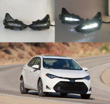 2x LED DRL white Daytime Running Lights Fog light For Toyota Corolla 2017-2018