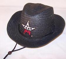 KIDS BLACK COLOR COWBOY HAT W  USA STAR child headwear children BOY cowgirl GIRL