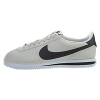 Nike Cortez Mens Leather Casual Sneakers Light Bone Black