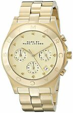 Marc By Marc Jacobs MBM3101 Women's Stainless Steel 22155 Gold Chronograph Watch