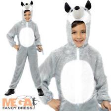 Wolf Fairy Tale Story Kids Fancy Dress Wild Animal World Book Day Childs Costume