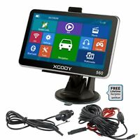 XGODY 5'' GPS Navigation Bluetooth Caméra de recul inverse Gratuite 2D 3D Carte