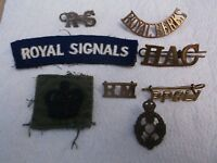 MIXED LOT OF 8 X MILITARY BADGES