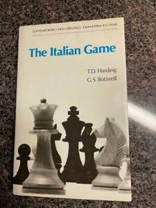 ITALIAN GAME (CONTEMPORARY CHESS OPENINGS) By T. D Harding - Hardcover LIKE NEW