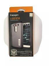New OEM Spigen Slim Armor Gunmetal Case For LG V10