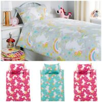 Luxurious Unicorn Duvet Cover Kids Bedding Set Quilt Cotton Rich Single Double