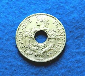 1938 Indo-China 5 Cents - Absolutely Gorgeous Coin - KEY DATE - SEE PICS