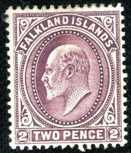 FALKLAND ISLANDS KEVII SG.45b 2d Reddish Purple (1912) Mint LMM Cat £225 YBLUE91