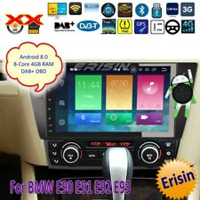 "BMW Autoradio Android 8.0 DAB+E90 E91 E92 E93 3 Series TNT OBD GPS TV BT 9""7490F"