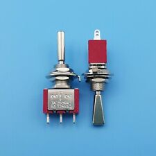2pcs T8014a U 3pin Momentary Mom Off Mom Flatted Lever Spdt Mini Toggle Switch