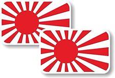 Vinilo STICKER/DECAL pequeño 70mm Bandera De Japón Sol Naciente-Par