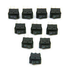 10 Pcs/Set SPST ON/OFF Switch Mini Black 2 Pin Rocker Switch DC 12V 16A 10x15mm