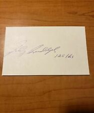 TEDDY RANDOLPH - BOXER - AUTOGRAPH SIGNED - INDEX CARD -AUTHENTIC - A1429