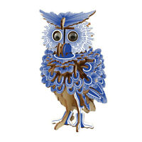 3D Owl Puzzle Jigsaw Woodcraft Model DIY Construction Wooden Toy Gift