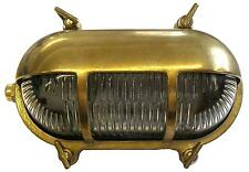 Solid Brass Exterior/outside Lighting Eyelid Bulkhead complete with LED lamp