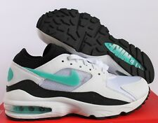 NIKE MEN AIR MAX 93 WHITE-SPORT TURQUOISE-BLACK SZ 7 [306551-107]