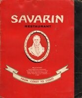 Vintage SAVARIN Restaurant Menu New York 1963