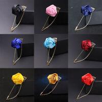 Fashion Men Suit Lapel Matching Brooch Rose Flower Brooch Pin Wedding Suit Decor