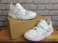 PUMA LADIES UK 3 EU 35.5 WHITE MESH TRINOMIC RUNNING TRAINERS