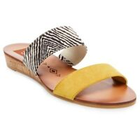 Women's dv designs by dolce vita Bailey Slide Sandals Multicolor yellow NWT
