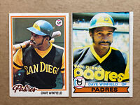 Dave Winfield Topps Vintage Baseball Card Lot(2): '78 & '79. Padres