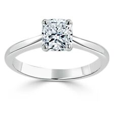 1.00 Ct Cushion Cut Diamond Engagement Ring 14K solid White Gold Rings Size 4 5