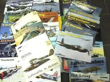 SQUADRON SIGNAL IN ACTION AIRCRAFT & HELIC.-LOT OF 252 BOOKS,FROM N.1 TO N.250