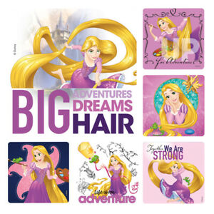 Rapunzel Stickers x 6 - Birthday Party Supplies Favours Loot Tangled Stickers