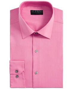 Alfani Mens Dress Shirt Pink Size Small S 14-14 1/2 Regular Fit Stretch $60 #106