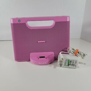 Pink Sony iPod Audio Docking System (Rdp-m7ip) With Official Power Cable